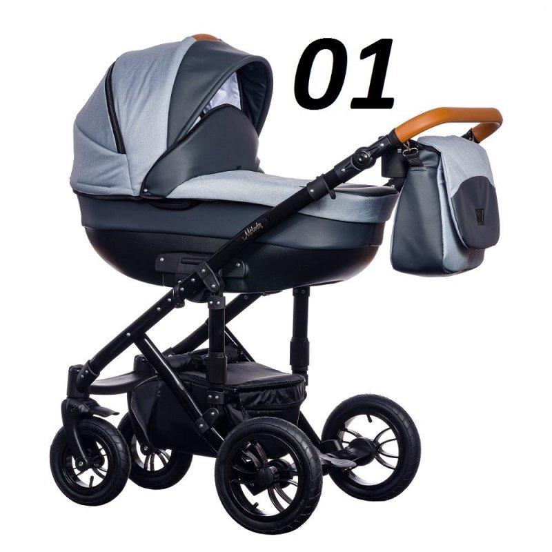 wózek Melody New 2019 PARADISE BABY tylko gondola ( opcja fotelik)