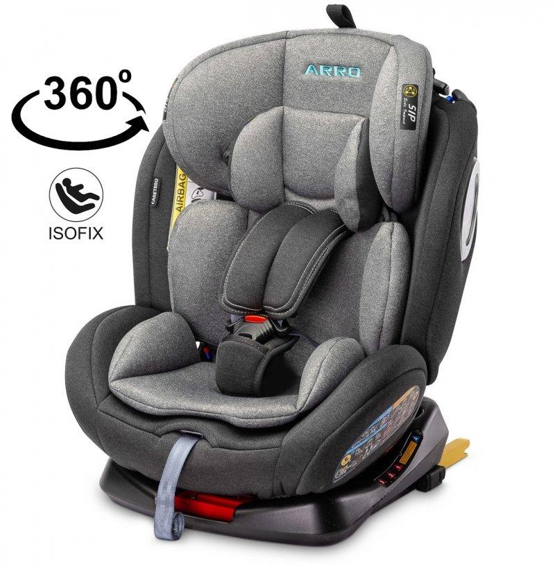 360° obrotowy fotelik Arro 0-36 kg isofix i pas TopTether + ochrona boczna SIP CARETERO