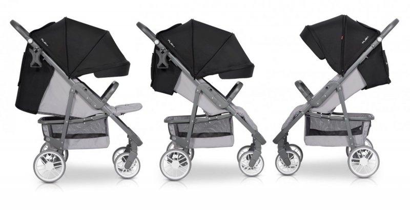 FLEX  wózek spacerowy do wagi dziecka 22 kg firmy EURO-CART kolor PINK POWDER