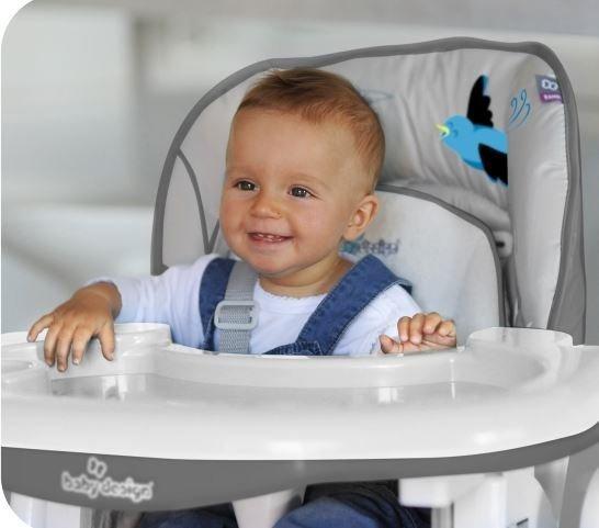 krzesełko do karmienia BAMBI z wkładką bawełnianą  BABY DESIGN