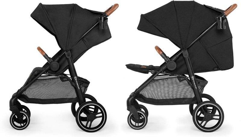 wózek spacerowy  GRANDE LX wszystkie  koła żelowe Kinderkraft kolor GREY