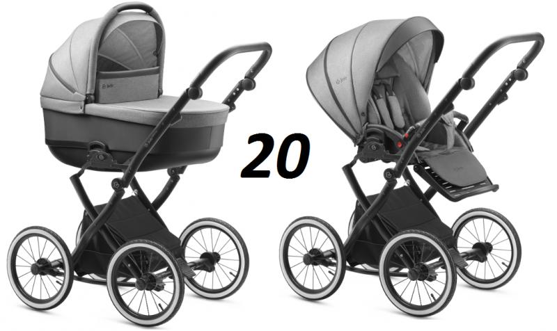 BARTATINA 2020 koła 12, 14 cali  (stelaż+ gondola + spacerówka  + dodatki JEDO