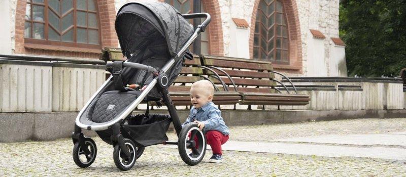 JOGGY 2020 wózek do 25 kg , 4 kolory , stelaż chrom , koła pompowane COLETTO