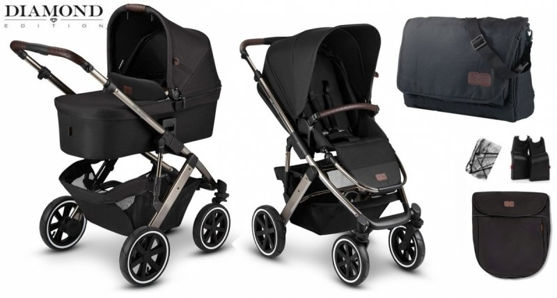 Diamond Edition 2021 SALSA AIR 4 zestaw 2w1 + adaptery do maxi-cosi ABC DESIGN kolor dolphin