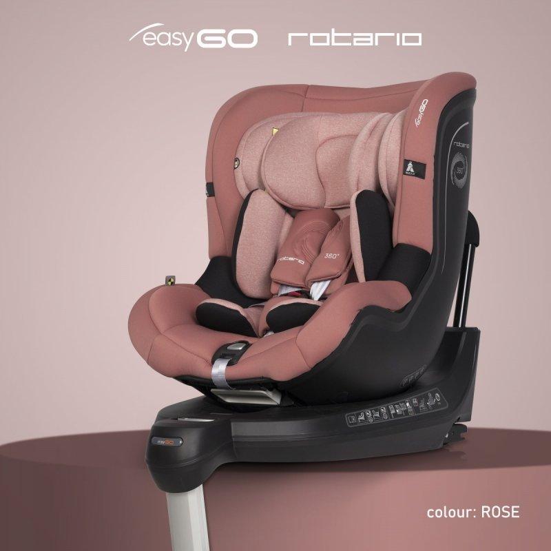 2021 fotelik obrotowy ROTARIO 0-18 KG isofix easy go tyłem do kierunku jazdy AŻ do 18 kg ( 3 gwiazdki ADAC )