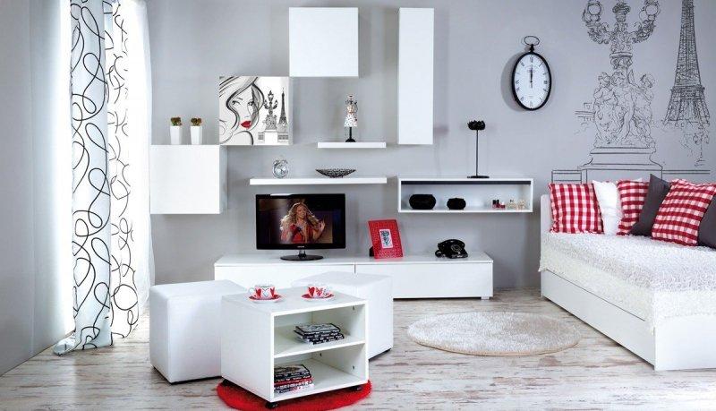 Łóżko TOP PARIS  white  z szufladą 200/90 cm KLUPŚ