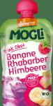 Mogli Demeter 100% Bio Banan Rabarbar Maliny 100g