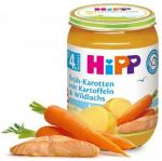 Hipp Młoda Marchew Ziemniaki Łosoś 4m 190g