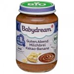 BabyDream Bio kaszka na noc czekoladowo bananowa 8m 190g