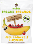 Erdbar Bio Chipsy Liofilizowane Banany Maliny 1r 16g