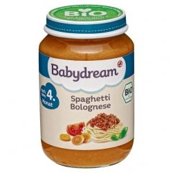BabyDream Bio Spaghetti Bolognese Wołowina 4m 190g