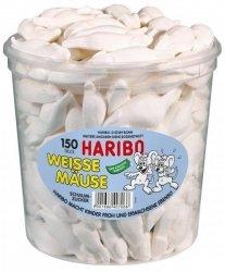 Haribo Białe Myszki Pianki Cukrowe 150szt 1050g