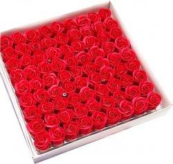 Wieczna Czerwona róża mydlana Kąpiel Prezent kwiaty 4cm