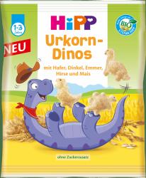 Hipp Bio Dinozaury Chrupki Zbożowe Proso Kukurydza 1r 30g