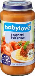 Babylove Bio Spaghetti Bolognese Wołowina 12m 250g