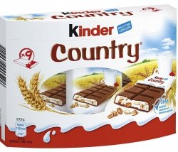 Ferrero Kinder Country Batoniki 5 Zbóż 9szt