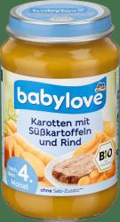 Babylove Bio Pure Bataty Marchewka Wołowina 4m 190g