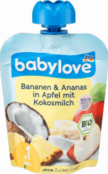 Babylove mus Banan Ananas Mleczko Kokosowe 1r 90g