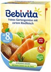 Bebivita Warzywa z Ogrodu z Wołowiną 8m 2x220g
