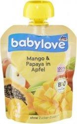 Babylove BIO mus Jabłko Mango Papaja 1r 90g