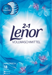 Lenor proszek prania ubrań białych Aprilfrisch 2w1 18p