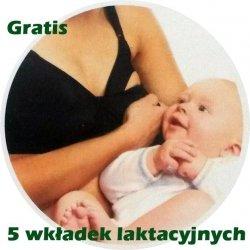 Biustonosz Stanik Ciążowy do Karmienia z Zapięciem 95 E Czarny
