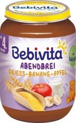 Bebivita Mleczna Kaszka Banan Jabłko na Noc 190g 4m