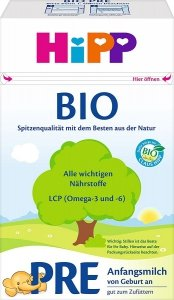 Hipp PRE BIO Mleko początkowe od urodzenia 600g