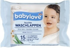 Babylove Myjki Kąpielowe Chusteczki Myjące 15szt