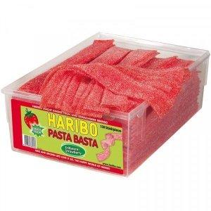 Haribo Pasta Basta Kwaśne Paski Truskawka Wege 150szt