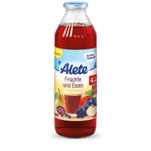 Alete Sok Czerwone Owoce Woda Mineralna 4m 750