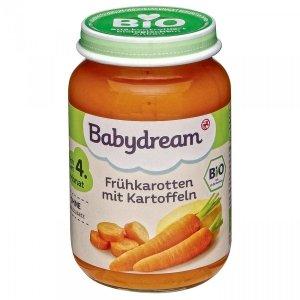 BabyDream Bio Warzywa Marchew Ziemniaki 4m 190g