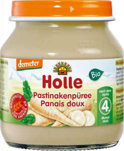Holle Bio obiadek puree z Pasternaka Pasternak  4m 125g