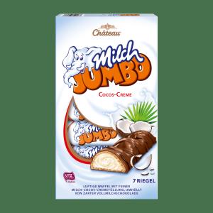 Chateau Milch Jumbo wafelki krem Kokosowy 150g 7szt