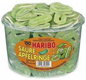 Haribo Żelki Kwaśne Zielone Jabłuszko 150szt 1200g