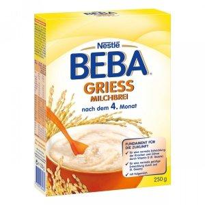 Nestle BEBA BL kaszka mleczna Ryż Kukurydza Wanilia 250g 4m