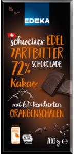 Edeka Ciemna Czekolada z kandyzowanymi pomarańczami 72% 100g