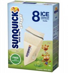 Sunquick Waniliowe lody do mrożenia 8 szt 520g