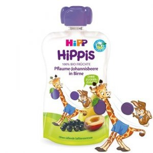 Hipp Hippis 100% Owoców Śliwka Gruszka Porzeczka 1r 90g