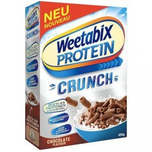 Weetabix Protein Crunch Czekoladowe Płatki Do Mleka 450