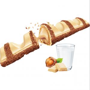 Ferrero Kinder Bueno White Batonik Orzechy Nadzienie 21,5g 1szt