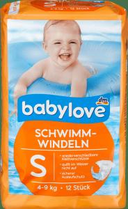 Babylove Pieluszki do pływania na Basen S 4-9kg 12szt