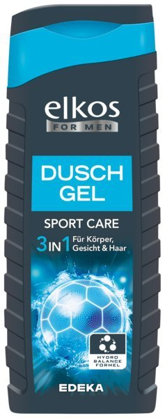 Elkos Men Sport żel szampon pod prysznic 3w1 DE