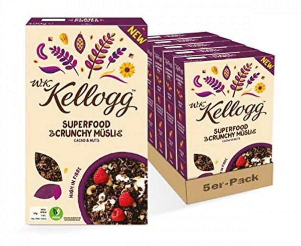 Kellogg's Musli bez Cukru Kakao Mix Orzechów 400g
