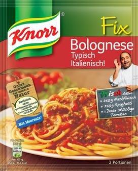 Knorr Fix Bolognese typu Włoskiego cebula zioła