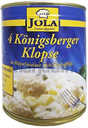 Jola Gotowe Klopsiki w sosie koperkowym Ziemniakami 800
