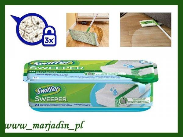 Swiffer Ściereczki do mycia podłogi cytynowe 24 sz