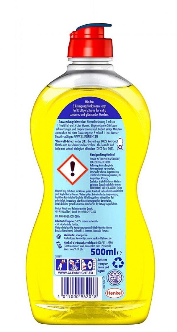 Pril KraftGel płyn do mycia naczyń Cytrynowy 500