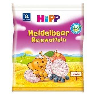 Hipp Bio Wafelki Ryżowe Jagody Jabłko 8m 30g