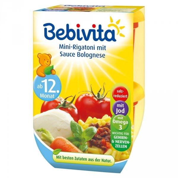 Bebivita Mini Rigatoni Sos Boloński Włowina 12m 2x250g
